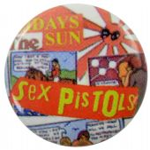 Sex Pistols - 'Holidays in the Sun' Button Badge